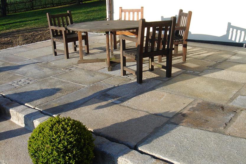 berggold pflaster naturstein gmbh terrassen. Black Bedroom Furniture Sets. Home Design Ideas